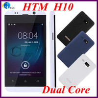 Wholesale HTM H10 MTK6572 Dual Core android cell phone Inch Capacitive Screen Smart cell Phone Android OS MP Camera quad band mobile