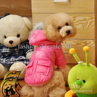 Coats, Jackets & Outerwears Fall/Winter Chirstmas 013 Dog Thermal Clothes Fashion Pet Cotton Clothes with Four Colors Pet Jacket with Hooded F142