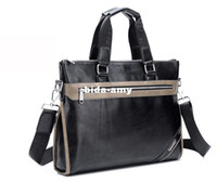 Wholesale 2013 New desgin Genuine Leather Men Bag Briefcase Men business Handbag Shoulder Bag Laptop Bag Top quality