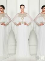 Chiffon Sleeveless Floor-Length Elegant chiffon long sleeves Zuhair murad column floor length fashion evening dresses royal beaded crew modern party dresses prom gowns