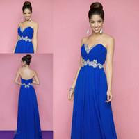Wholesale High quality blue sweetheart beaded chiffon long bridesmaid dress brides maid dress BD107