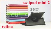 For Apple For Ipad Mini PU 360 Degree Rotating Smart PU Leather Case Cover for iPad Mini Retina Mini 2 Tablet PC