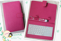 Wholesale DHL inch USB keyboard leather Folding leather case with stand for tablet pc MID nine colors