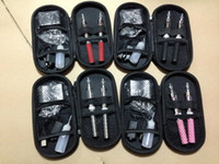 Wholesale T3S Dual Electronic Cigarette Kits T3S Atomizer mah mah mah Battery in a Zipper Case with EU AU UK US Wall Charger