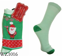 Wholesale Cheap Green Christmas Ankle Socks Man Sock Women Hosiery for Winter pairs WZ1016