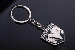 Wholesales 10pcs lot Novelty Gift 3D Zinc Alloy Hollowed Car Auto Keychain Keyring Fob For Dodge Cars