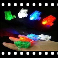 Unisex beam plastics - 1000pcs Dazzling Laser LED Finger lamp Multi Color set LED Light Finger Laser Beam Torch Ring Christmas toys sets Freeshipping