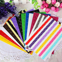 Wholesale 50 sets of Color Photo Corners Stickers for DIY Photo LOMO Album Stamp Scrapbooking