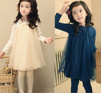 Wholesale hot sale autumn winter children s girl s kids one piece long sleeve plain solid color fluffy dress