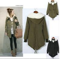 Cheap Warm Winter Womens Korean Hooded Parka Overcoat Long Coat Outerwer s XXL