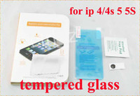 Wholesale Top clear Gorilla Tempered Glass Premium Explosion proof screen protector Film Guard For Iphone S C iphone AIR S
