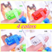 Cheap 100pcs Lighted Toys Multi-Color 4pcs set LED Light Finger Laser Beam Torch Ring Christmas toys 25sets lot On Sale