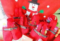 100pcs freeshipping Santa pants style Christmas Candy gift b...