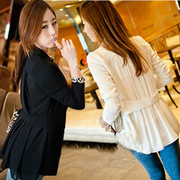 Wholesale Fashion Women s Suit Blazer Tunic Foldable Jacket Women Candy Color Ladies Office Clothes Shawl Cardigan Coat Outerwear S M L XL DH04