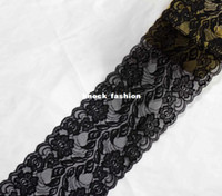 Wholesale new beautiful elastic Ribbon lace cm wide handmade clothes for black lace fabric Y