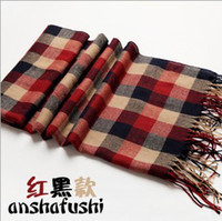 Wholesale 30 Spring and autumn and winter in Europe and America models oversized plaid wool scarf thick Scottish plaid cashmere scar