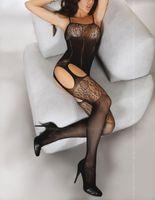 Cheap Hot Sexy Women's Lingerie One Piece Fishnet Open Crotch Body Stocking Bodysuit