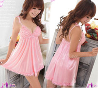 Wholesale Women s New Sexy Lingerie Babydoll Pink Sleep Dress G String Hot AU