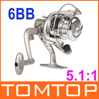 Saltwater   6BB Ball Bearings Left Right Hand Interchangeable Collapsible Handle Fishing Spinning Reel SG3000 5.1:1 for Outdoor Sports H9846