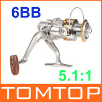Saltwater   6BB Ball Bearings Left Right Hand Interchangeable Collapsible Handle Fishing Spinning Reel SG3000A 5.1:1 For Outdoor Sports H9847
