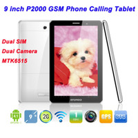 9 inch Android 4.1 2GB 9 inch P2000 Android 4.1 GSM Phone Calling Tablet Capacitive PC Dual SIM Dual Camera MTK6515 1.2GHz