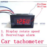 Wholesale Digital Red LED Tachometer Tacho Gauge for Car Motorcycle with Battery Overvoltage alarm