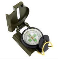 Wholesale High quality Mini Military Camping Marching Lensatic Compass Magnifier Army Green