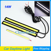 Wholesale 1Pair Ultra thin W COB Chip LED Car Daytime Light Fog Light Head Lamp Universal DRL Waterproof Lights Cool White