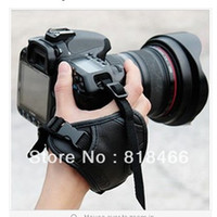 Wholesale tracking number Brand new High Quality Faux Leather Hand Grip Wrist strap for Camera fit Nikon Canon Sony