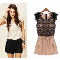 other other Lace dresses 2013 summer fashion top brand design woman lace jumpsuit sexy elegant mini short club romper for women ladies siames plus size