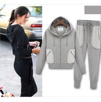 Cheap 2013 autumn winter fashion women cotton hoody sweatsuits brand sport item design cute top for woman dress sweat suit plus size