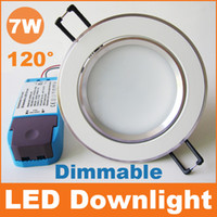 Wholesale 2016 Dimmable led downlight W recessed ceiling lights degrees AC110V V CE RoHS SAA