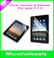 Wholesale High For Ipad Clear Crytal Screen Protector film Guard cover shield for ipad2 ipad3 ipad4 inch no retail package