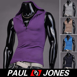 Wholesale PJ Korean Mens Fashion Designer Slim Fit Hooded Sleeveless Vest Tank Top Size S XL CL4743