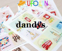 Wholesale Children s stationery A30 Creative vintage stamp paper sticker sheets per set note sticker Decoration label Multifunctio