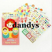 Bathing bags park - Children s stationery A30 Creative russian doll paper sticker paper bag park note sticker Decoration label Multifunction Wholesal
