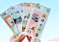 Wholesale Children s stationery A30 New vintage style girl food and date label paper sticker label sticker sheet per packdandy