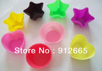 Wholesale 20pcs silicone cake mold cupcake tray pudding maker sandwich Modeling Cakes