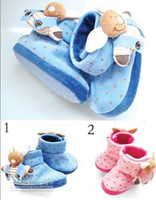 Winter baby bottoms doll - Hot Sale New Pink blue shoes soft bottom baby shoes cheap toddler shoes doll cartoon snow boots infants sock pairs