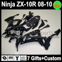 7gifts+ Custom Fairing all black For KAWASAKI NINJA 08- 10 ZX-...