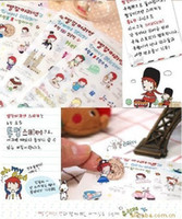 Wholesale 20pcs lotE9059 Korean red hair ann travel stickers European papers limited edition transparent cartoon stickersfree ship