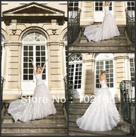 Reference Images Bateau Chiffon Miraculous Strapless Appliqued Beaded Flowers A-line Chapel Train Tull Grecian Style Wedding Dresses