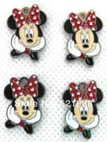 Wholesale 100 Red Minnie Mouse Head Metal Charms Earrings pendants Jewellery DIY