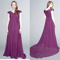 Actual Images Sleeveless Satin New hot sell Free Shipping c12136 deep v-neck draped chiffon purple color floor length celebrity dresses prom dresses under $50