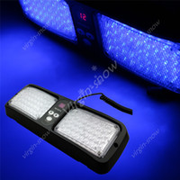 Strobe Light 12V Universal Super Bright 86 LED Car Truck Blasting Visor Strobe Flash Emergency Warning Light Panel Blue