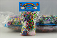 Wholesale Promotional Rainbow loom rubber band blending or monochrome Bracelets rubber S hook Christmas gifts