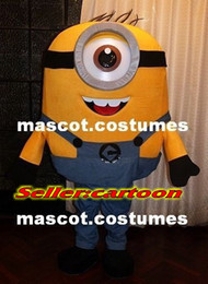 Wholesale New special Minions Costume Mascot figure despicable me character Adult Size Suit Christmas fancy dress factory direct