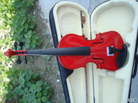 Wholesale Musical instrument high quality popularity of red violin practice
