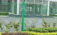Wholesale Powder Coated Green Wire Mesh Fence Wire Mesh Fence Panel Round Square Rectangle Pach Post Anti Thief Clips