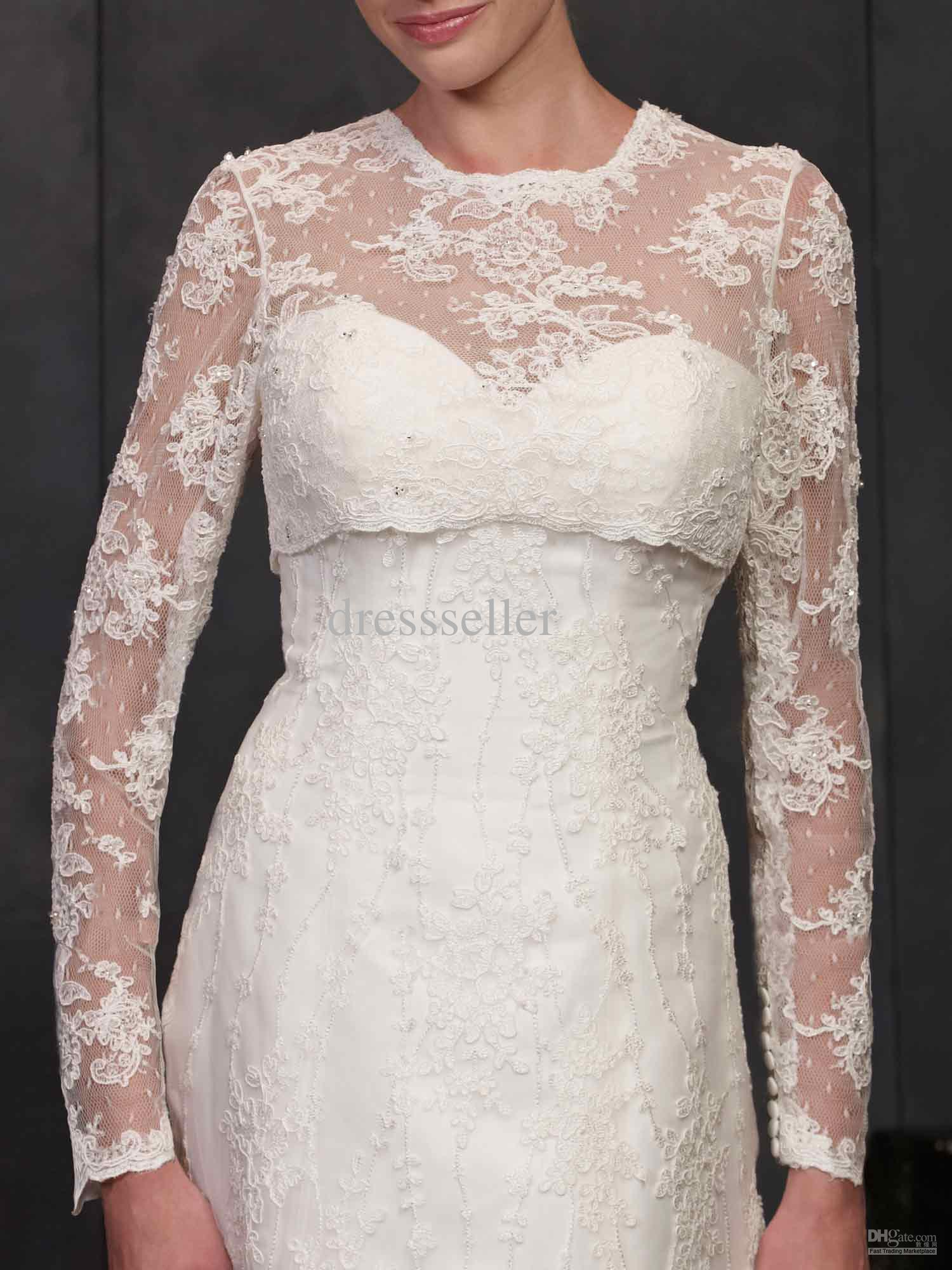 Hot sale high quality crew cover back long sleeve dotted lace hot sale high quality crew cover back long sleeve dotted lace bridal bolero wedding dress jacket wedding dress jacket long sleeve bridal bolero lace jacket ombrellifo Images